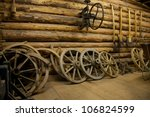 Old Tools And Wheels In A Barn