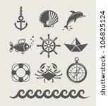 sea and marine symbol set of... | Shutterstock .eps vector #106825124