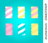 set colorful twisted... | Shutterstock .eps vector #1068253469