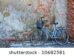 old bicycle in chinese street...