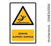 beware slippery surface symbol  ... | Shutterstock .eps vector #1068263006