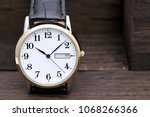 close up of wristwatch with...
