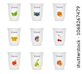 fruit and berry stickers  set.... | Shutterstock . vector #1068267479