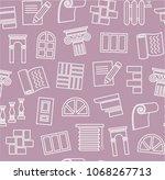 finishing of premises and...   Shutterstock .eps vector #1068267713