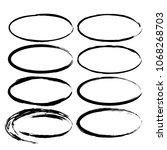 set of grunge oval frames.... | Shutterstock .eps vector #1068268703