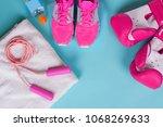 pink background sporting... | Shutterstock . vector #1068269633