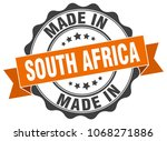 made in south africa round seal | Shutterstock .eps vector #1068271886