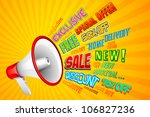 illustration of sale and... | Shutterstock .eps vector #106827236