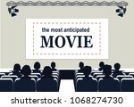 people in the cinema  the... | Shutterstock .eps vector #1068274730