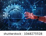 business man with cloud... | Shutterstock . vector #1068275528
