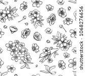 vector sakura seamless pattern... | Shutterstock .eps vector #1068276656