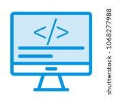 programming coding monitor    Shutterstock .eps vector #1068277988