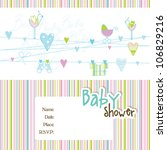 baby shower invitation birthday ... | Shutterstock .eps vector #106829216