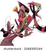 vector cartoon illustration... | Shutterstock .eps vector #1068300164