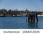 buoys  dolphins and  bollards... | Shutterstock . vector #1068312020