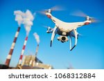 security and safety. drone... | Shutterstock . vector #1068312884