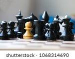 chessmen. concept white and...   Shutterstock . vector #1068314690