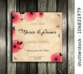 wedding card or invitation with ... | Shutterstock .eps vector #106831979
