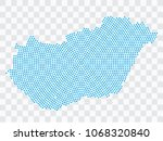 abstract blue map of hungary  ...   Shutterstock .eps vector #1068320840