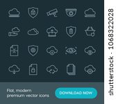 modern simple set of cloud and... | Shutterstock .eps vector #1068322028