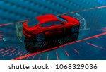 self driving technology 3d... | Shutterstock . vector #1068329036
