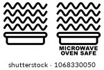 microwave safe container icon.... | Shutterstock .eps vector #1068330050