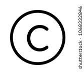 copyright vector icon...