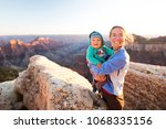 a mother with baby son in grand ... | Shutterstock . vector #1068335156