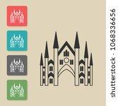 castle   vector icon. symbol...