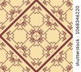 vintage ornamental seamless... | Shutterstock .eps vector #1068346220