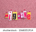 migraine in german language | Shutterstock . vector #1068351914