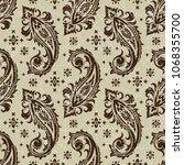 seamless pattern based on... | Shutterstock .eps vector #1068355700