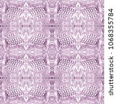 seamless pattern with grapes.... | Shutterstock . vector #1068355784