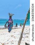 diani beach  mombasa  kenya  ... | Shutterstock . vector #1068358334