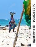 diani beach  mombasa  kenya  ... | Shutterstock . vector #1068358340