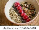 Oatmel With Raspberries ...