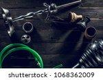 hookah parts smoking hookah... | Shutterstock . vector #1068362009
