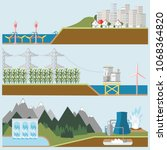 renewable energy vector... | Shutterstock .eps vector #1068364820