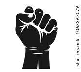 rising hand fist vector...   Shutterstock .eps vector #1068367079