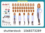 female doctor character... | Shutterstock .eps vector #1068373289