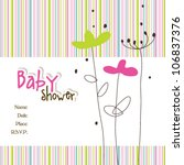 baby arrival card | Shutterstock .eps vector #106837376