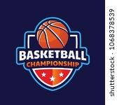 basketball logo  american logo... | Shutterstock .eps vector #1068378539