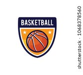 basketball logo  american logo... | Shutterstock .eps vector #1068378560