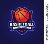 basketball logo  american logo... | Shutterstock .eps vector #1068378563