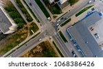 top view of the intersection of ... | Shutterstock . vector #1068386426