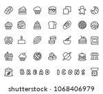 bread hand drawn icon design... | Shutterstock .eps vector #1068406979