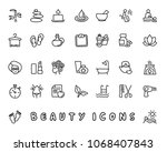 beauty hand drawn icon design... | Shutterstock .eps vector #1068407843