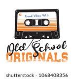cassette illustration for t... | Shutterstock .eps vector #1068408356