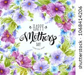 happy mother's day illustration ... | Shutterstock . vector #1068414206
