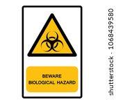 beware biological hazard symbol ... | Shutterstock .eps vector #1068439580